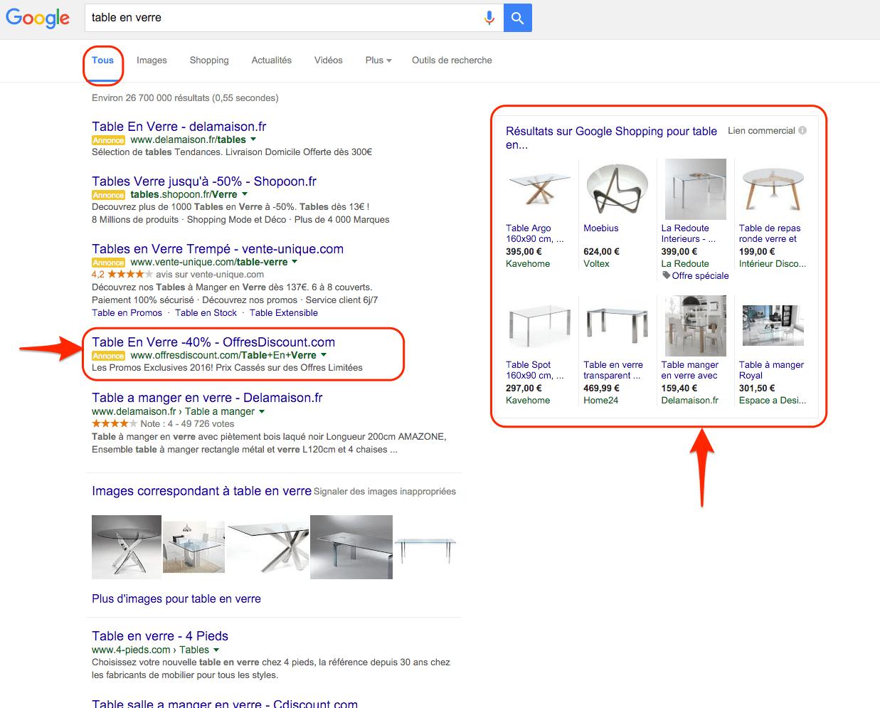 Nouvelle distribution des résultats Google